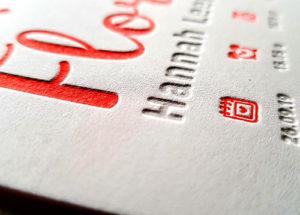 Letterpress Floar