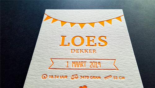 Letterpress Loes