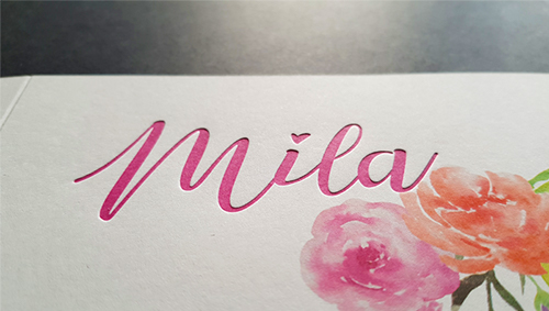 Letterpress Mila