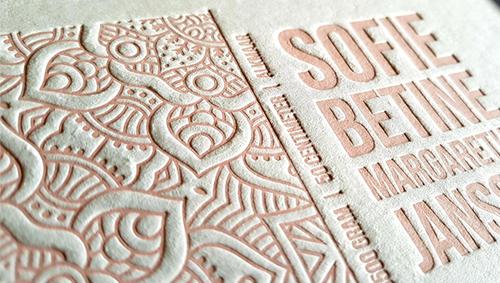 Letterpress Sopie Betine