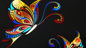 foliedruk vlinder 3 foliekleuren