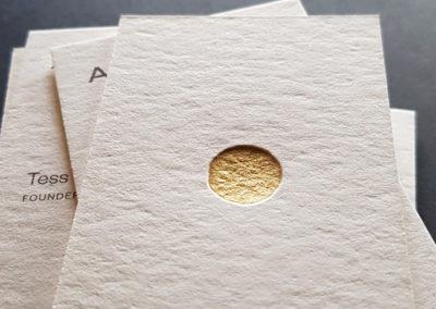 Foliedruk letterpress